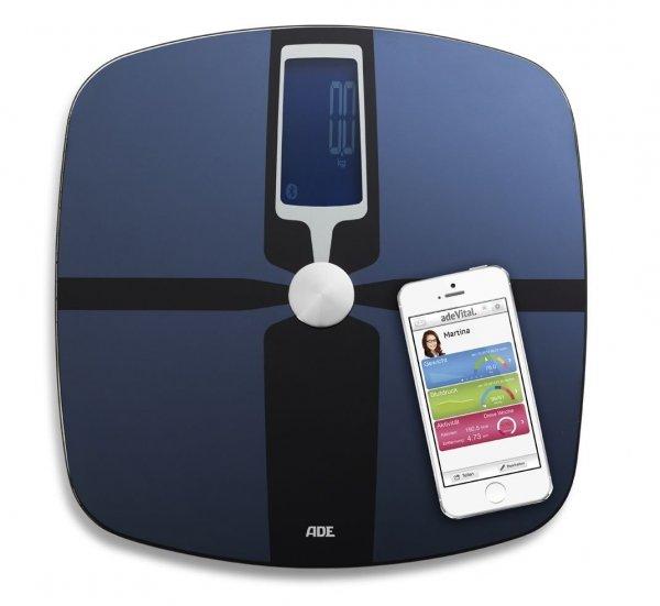 adeVital Analysis BA 1400 Körperanalysewaage (Bluetooth, passende App für Android u. iOS)