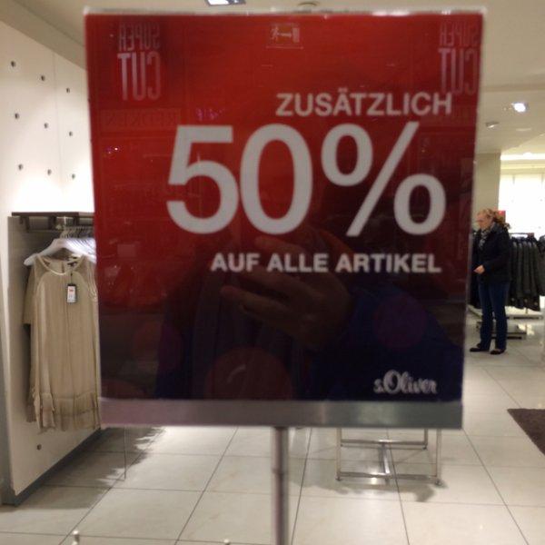 [lokal Dortmund] s.Oliver Store Innenstadt (Nicht in der Thier-Galerie) 50 % auf alle Artikel