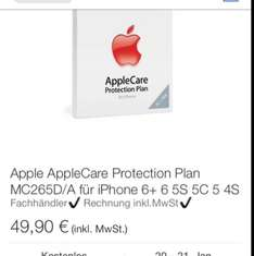 Apple AppleCare Protection Plan Serviceerweiterung MC265D/A für iPhone 6+ 6 5S 5C 5@ebay