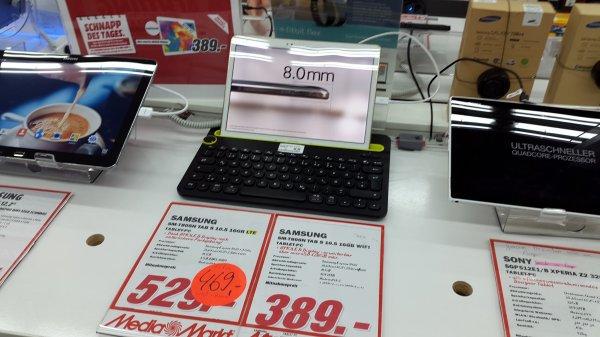 Samsung Tab S im MM Paunsdorf weiter für 389€