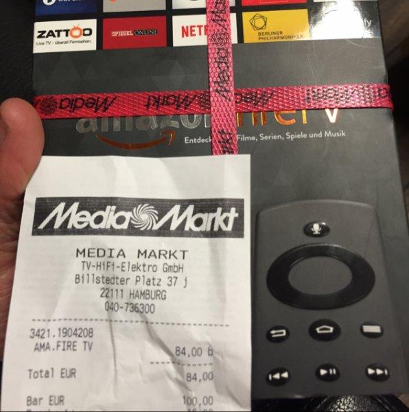 Amazon FireTV für 84€