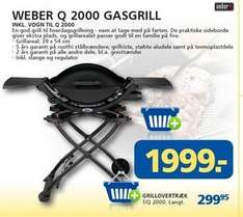[DÄNEMARK] Weber Q2000 Gasgrill inkl. Wagen für 270 EUR davidsen.as