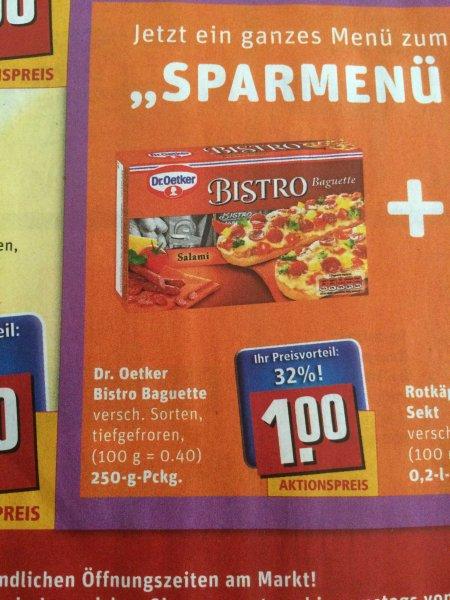 Offline Lokal Berlin REWE - Bistro Baguette 1,00 €