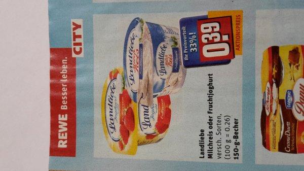 [rewe] gratis landliebe Milchreis /Joghurt (Angebot +scondoo, max 2 pro Person )