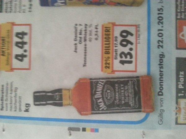[Lokal? Kaufland 71522] Jack Daniels Whisky 13.99 €