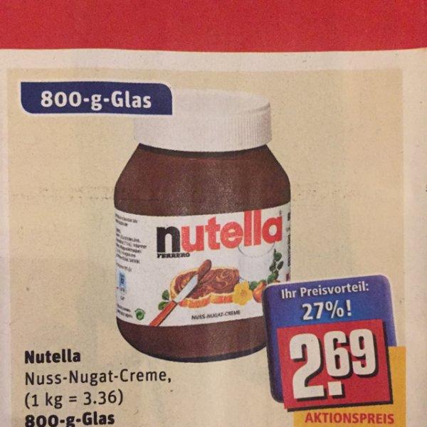 [offline] Nutella Rewe 800g Glas in KW4/2015 bundesweit