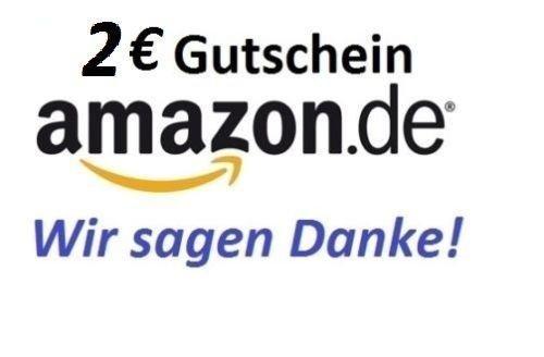 Gutscheinaktion 2 € AMAZON Gutschein für nur 1€