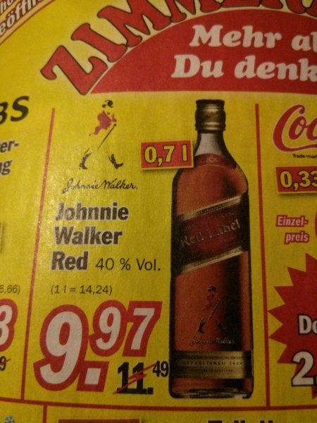 [Zimmermann] Johnnie Walker 0,7 l für 9,97 €