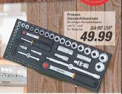 """[Marktkauf Münster-Loddenheide] Proxxon Steckschlüsselsatz 1/2"""" + 1/4"""", 56-tlg. ( Set Nr. 23040) für 49,99 € (Idealo ab 64,93€)"""