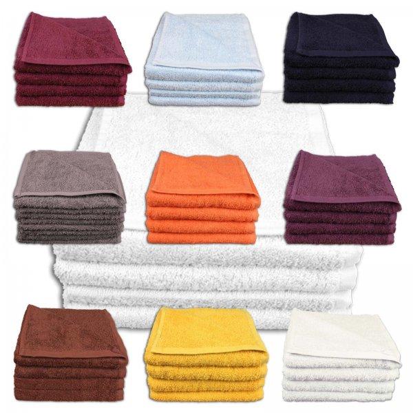 ebay WoW: Handtücher Duschtücher Saunatuch Waschhandschuhe SETS in vielen Farbenvarianten @ 9,99 Euro inkl. Versand