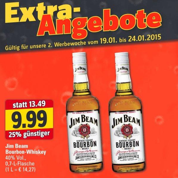 [Profi Getränke Shop] Jim Beam Bourbon Whiskey für 9,99€