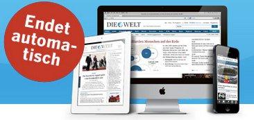2 Monate Welt Digital: Kostenlos und unverbindlich (Tablet, Smartphone, Web)