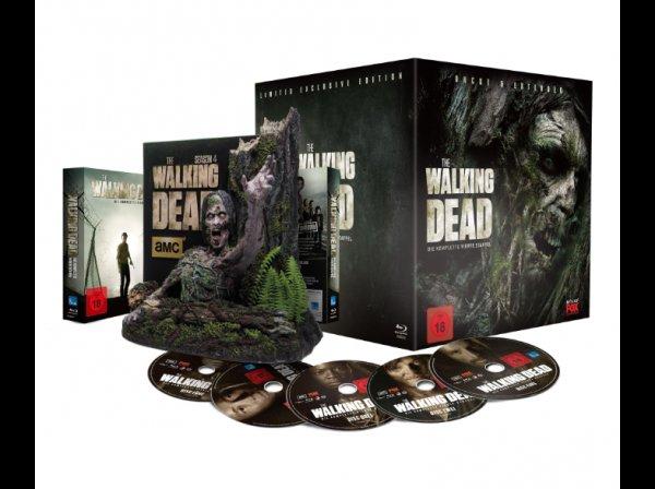 The Walking Dead - Die komplette vierte Staffel - Treewalker Edition bei MM oder aus Spanien für 66,88 Euro