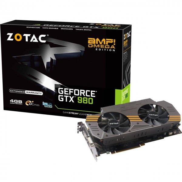 ZOTAC GeForce GTX 980 AMP! OMEGA Edition für 479€ mit Gutschein VIP-KA9P7CQX2Z