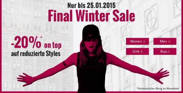 Tom Tailor Final Winter Sale -20% auf bereits reduzierte Artikel
