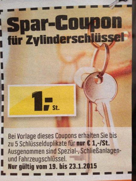 [Offline] Ersatzschlüssel bei OBI für 1 € / Stück
