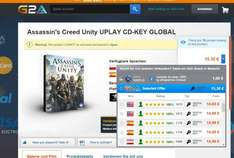 PC KEY Assassins Creed Unity (FSK 16) für 15,30 Euro bei g2a.com