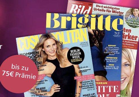 Leserservice Jahresabo-Angebote: Cosmopolitan, Brigitte und Bild der Frau