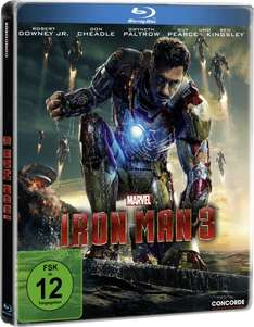Iron Man 3 (Steelbook) [Blu-ray] [Limited Edition] für 7,99 € > [amazon.de] > Prime