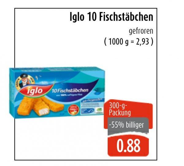 [Lokal] EWS Markt - Iglo Fischstäbchen 10er Packung für 0,88 Euro