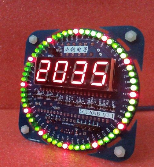 DIY Baukasten für Led Uhr mit Wecker, Temperatur, Datumsanziege...  für 8,11€ von Banggood