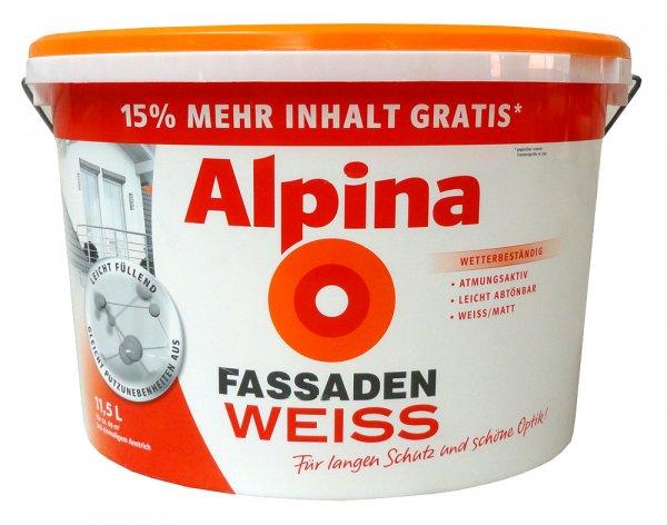 ALPINA Fassadenfarbe 11,5 Liter für 39,99€ statt 49,99€ (zzgl. 4,90€ Versand)