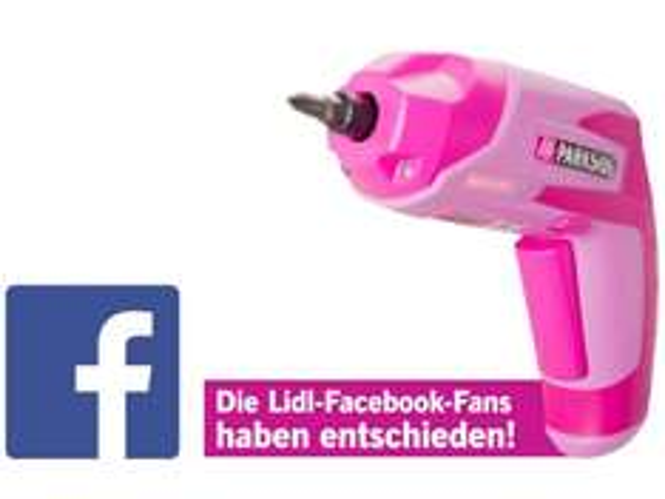 [Lidl Online] Pinker Akkuschrauber von Parkside