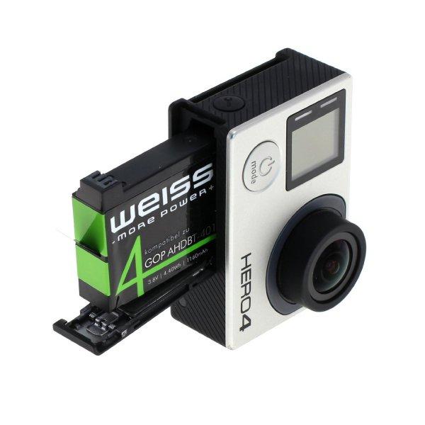 GoPro 4 Akku von Weiss für 6,99€ statt 12,99€ bei Amazon