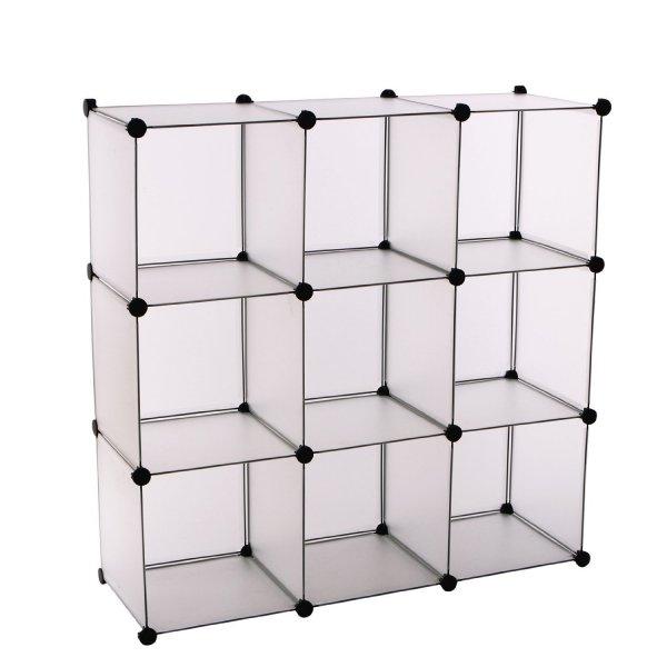 [Bei Amazon]Songmics DIY Cube Aufbewahrung Kleiderschrank Badregale Schuhregal Bücherregal Sideboard Kommode Weiß LPC115