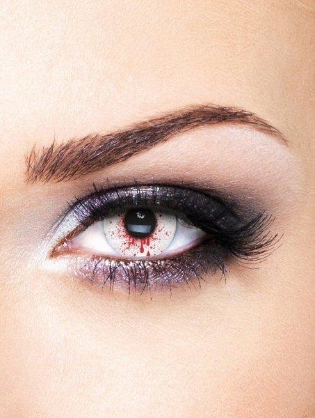 Edit farbige rote blut Bloodshot Kontaktlinsen ohne Stärke für Halloween und Karneval EUR 15,99 / Stück)