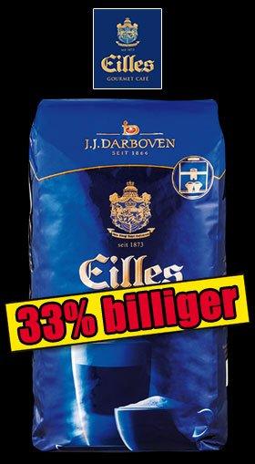 [NORMA-nicht bundesweit] EILLES Gourmet Kaffee 1 kg GANZE Bohne für 8,99 € ab Fr.23.1 Caffe Crema