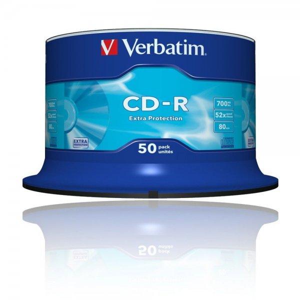 (ebay) Verbatim 52x CD-R Rohlinge 700MB 50er-Spindel für 9,25€ inkl. versand