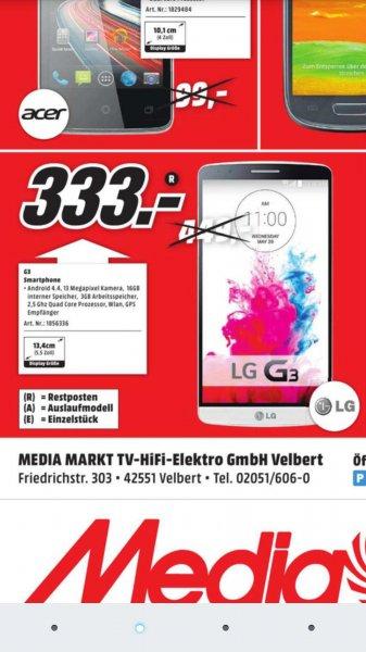 (Lokal) LG G3 Version mit 32GB Speicher und 3GB RAM @Media Markt Velbert