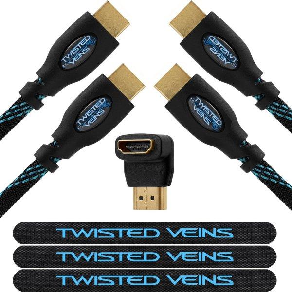 [Amazon] 2x HDMI-Kabel (1,8m) + 1x HDMI-Winkeladapter + 1x LED Taschenlampe für 6,33€ [ohne PRIME: 6,34€ Beschreibung unten] 4,9 Amazon-Sterne - WIEDER DA