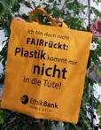 Gratis Jutebeutel für die Unterzeichnung einer Petition gegen Plastiktüten