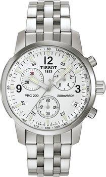 TISSOT Herren PRC 200 (T17.1.586.32) Taucher Silber Chronograph Uhr 252,58€ inkl. Versand