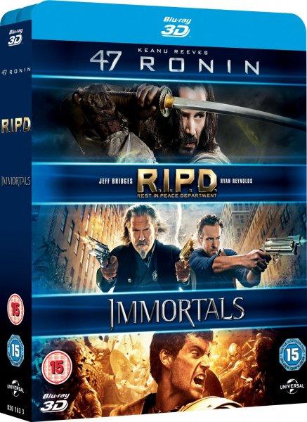 [Amazon.co.uk] 47 Ronin / RIPD / Immortals (3D Blu-rays)
