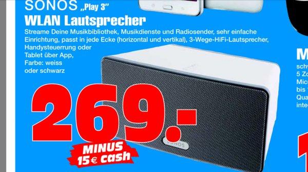 [lokal Gelsenkirchen] Sonos Play:3 bei radiomarkt (idealo 277€)