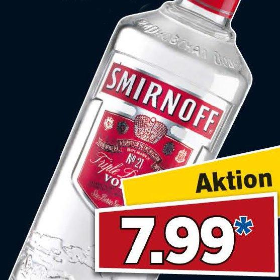 Vodka SMIRNOFF Aktionspreis am Samstag bei [Lidl]