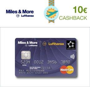 (Qipu) 10€ Cashback für Zusendung von Antragsunterlagen für Miles&More Kreditkarte (KEIN Abschluss, KEINE Schufa)