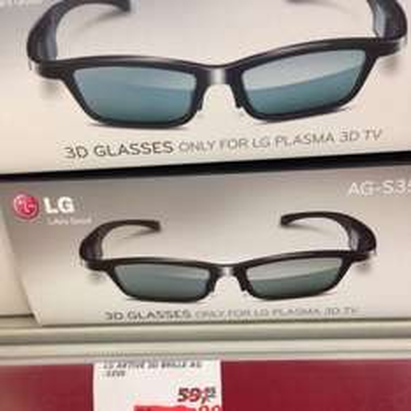 Lokal REAL Kenn. LG SHUTTER Brille für Plasma TV. AG-S350