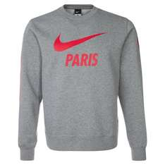 Paris Saint-Germain Club Core Crew Grau-Rot Sweatshirt