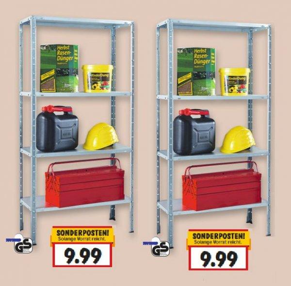 [KAUFLAND BUNDESWEIT] KW05: Metallregal 150x75x30cm mit Metallböden vollverzinkt max. 120kg (4x30kg) Tragelast für nur 9,99€ Idealo: 18,99€ inkl. Versand