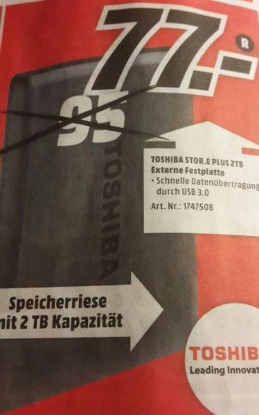 """(LOKAL Aschaffenburg) Toshiba Stor.E Plus 2TB (2,5"""")"""