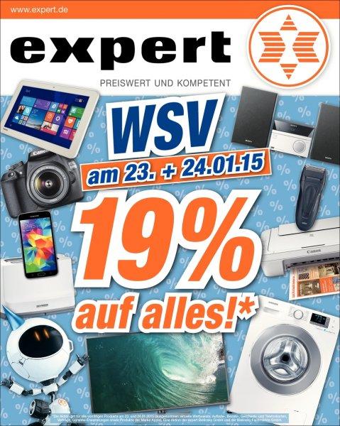 19% auf alles bei Expert in Bonn, Bad Neuenahr-Ahrweiler, Bad Honnef oder Euskirchen