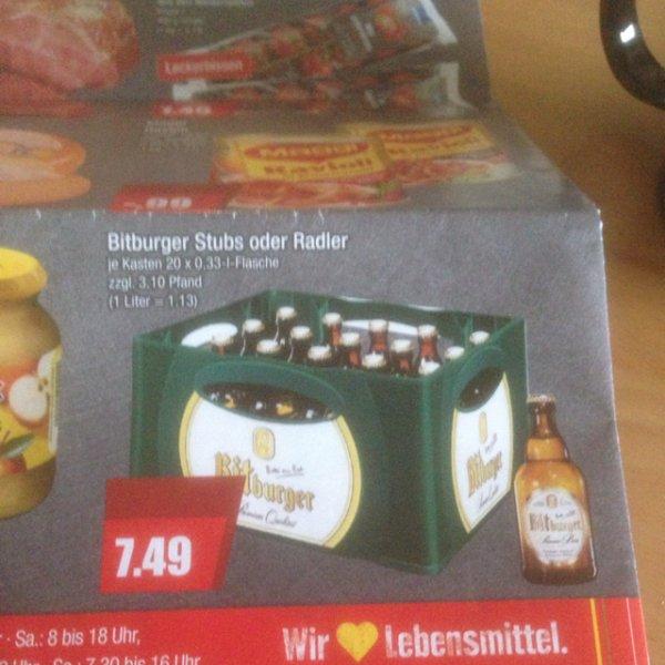 Bitburger 7,49€ stubbi Kasten