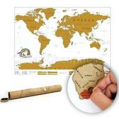 Weltkarte Scratch Off World Map Poster 82*58cm [ebay]