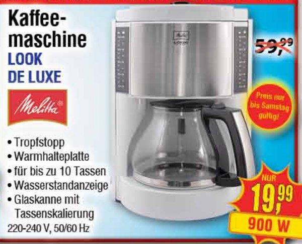 [Centershop] Melitta Look De Luxe Kaffeemaschine 19,99€