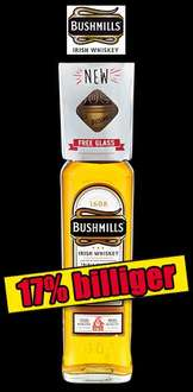 [lokal?] [Norma] Irish Whiskey Bushmills Original 0,7l inkl. Glas für 13,99€
