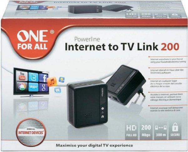 Voelkner Online: OneForAll Powerline Starter Kit SV 2010 200 MBit/s für 11,11€ mit Sofortüberweisung 55% Ersparnis